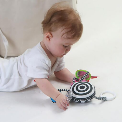 Baby Rattles Stroller Pendant Cartoon Appease Toy Crib Hanging Toys Ring Bell Look at and Know 4