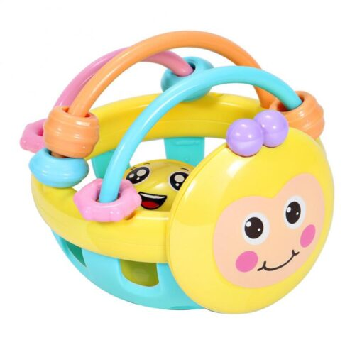 Baby Rattles Toy Teething Rattle Plastic Hand Bell Intelligence Grasping Gums Baby Teether Toy Baby Care 1