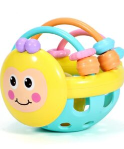 Baby Rattles Toy Teething Rattle Plastic Hand Bell Intelligence Grasping Gums Baby Teether Toy Baby Care 2