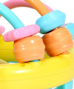 Baby Rattles Toy Teething Rattle Plastic Hand Bell Intelligence Grasping Gums Baby Teether Toy Baby Care 3