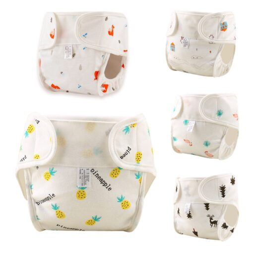 Baby Reusable Diapers Cotton Cloth Diapers Toddler Nappy Training Pants Adjustable Nappies Waterproof Child Eco friendly