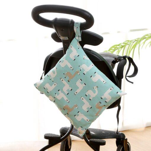 Baby Reusable Waterproof Wet Bag For Maternity Diaper Newborn Infant Baby Cart Storage Hanging Stroller Bag 1