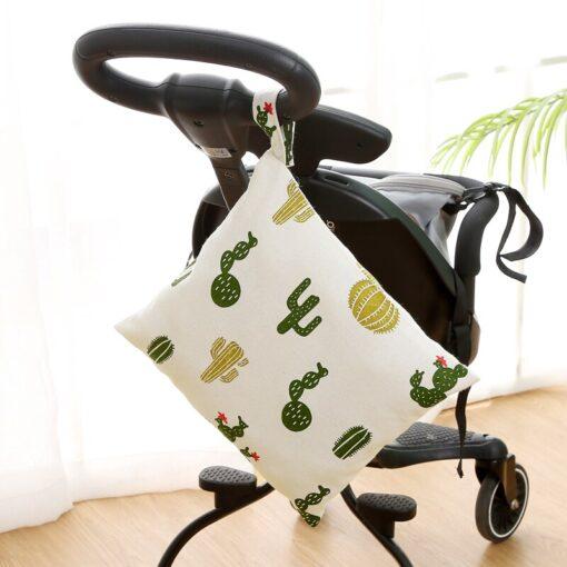 Baby Reusable Waterproof Wet Bag For Maternity Diaper Newborn Infant Baby Cart Storage Hanging Stroller Bag 2
