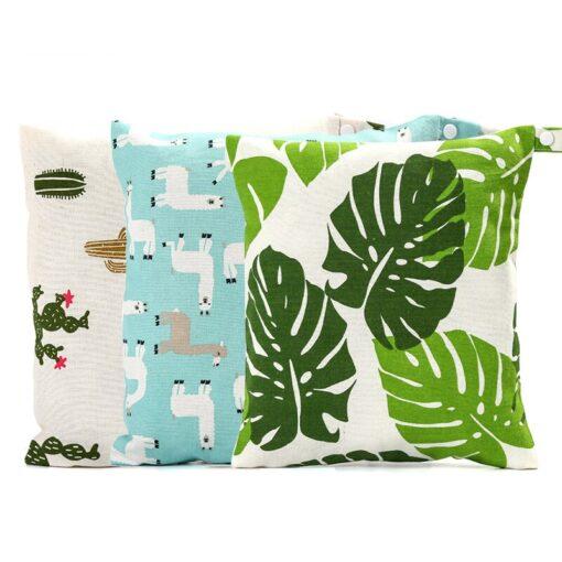 Baby Reusable Waterproof Wet Bag For Maternity Diaper Newborn Infant Baby Cart Storage Hanging Stroller Bag 4
