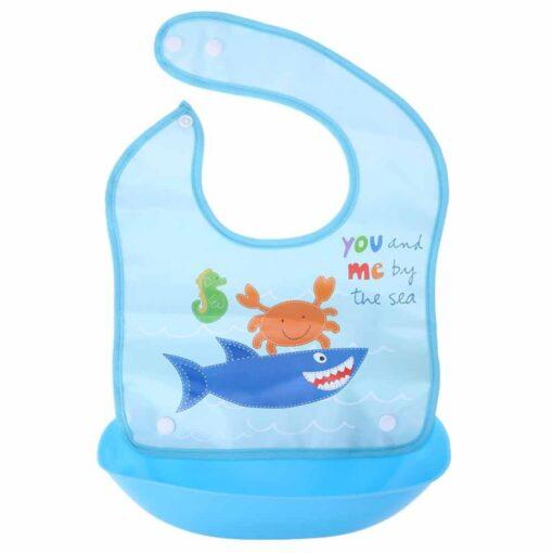 Baby Silicone Bibs Kids Lovely Cartoon Animals Pocket Bib Bandana Waterproof Feeding Newborn Infant Food Bib 4