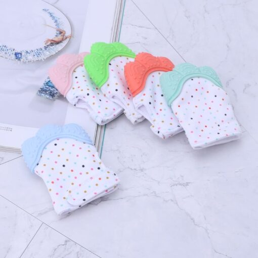 Baby Silicone Teething Glove Candy Wrapper Sound Chew Teethers Vip for Newborn 2