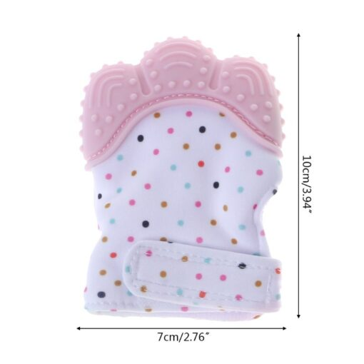 Baby Silicone Teething Glove Candy Wrapper Sound Chew Teethers Vip for Newborn 4