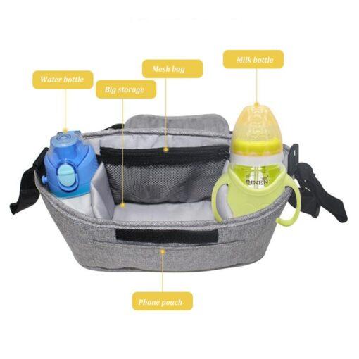 Baby Stroller Bag Mummy Organizer Bag Nappy Diaper Bags Carriage Buggy Pram Cart Basket Hook Stroller 3