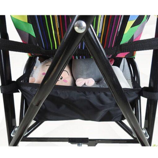Baby Stroller Basket Newborn Stroller Hanging Basket Pram Bottom Organizer Bag 4