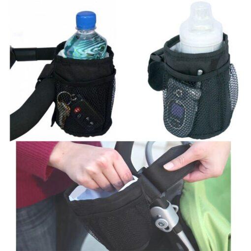 Baby Stroller Cup Holder Universal Baby Stroller Organizer Bags Baby Carriage Pram Pushchair Cup Bottle Bag 2