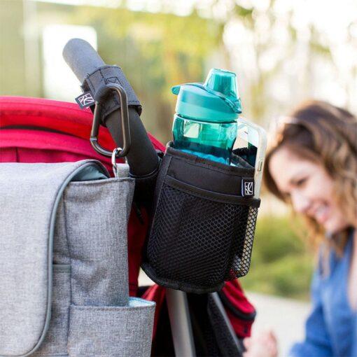 Baby Stroller Cup Holder Universal Baby Stroller Organizer Bags Baby Carriage Pram Pushchair Cup Bottle Bag 3
