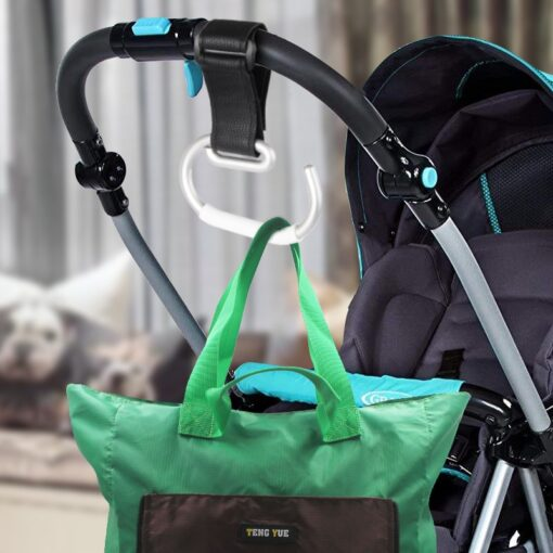 Baby Stroller Hooks Aluminum Alloy Strong Hook Trolley Accessories Multi Shopping Bag Strong Hook Baby Carriage 3