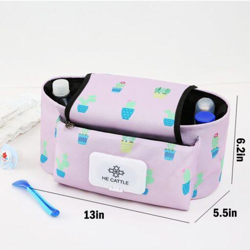 Baby Stroller Organizer Baby Pram Carriage Bottle Cup Holder Hanging Bag for Pram Buggy Baby cart 5