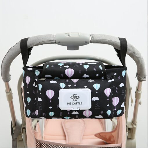 Baby Stroller Organizer Baby Pram Carriage Bottle Cup Holder Hanging Bag for Pram Buggy Baby cart