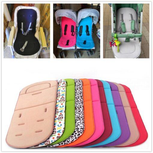 Baby Stroller Seat Cushion Kids Pushchair Car Cart High Chair Seat Trolley Soft Mattress Baby Stroller 12