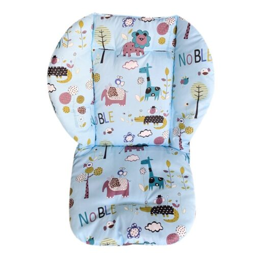 Baby Stroller Seat Pad Universal Baby Stroller High Chair Seat Cushion Liner Mat Cotton Soft Feeding 3