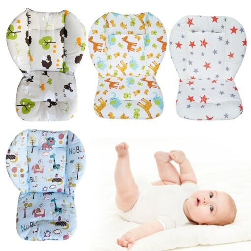 Baby Stroller Seat Pad Universal Baby Stroller High Chair Seat Cushion Liner Mat Cotton Soft Feeding