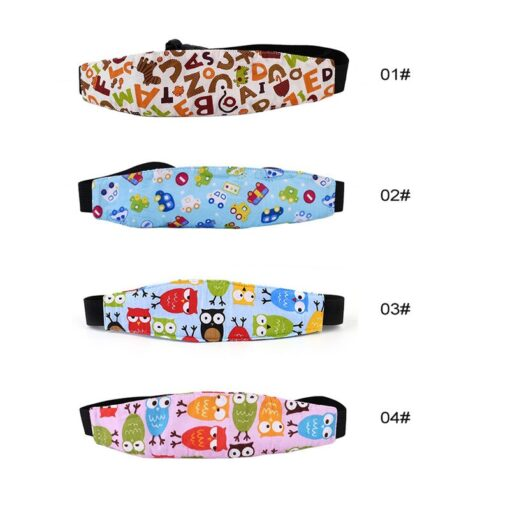 Baby Stroller sleeping Head support Child Car Safety Seat Head Fixing Auxiliary Cotton Belt for Child 1