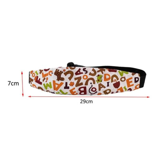 Baby Stroller sleeping Head support Child Car Safety Seat Head Fixing Auxiliary Cotton Belt for Child 2