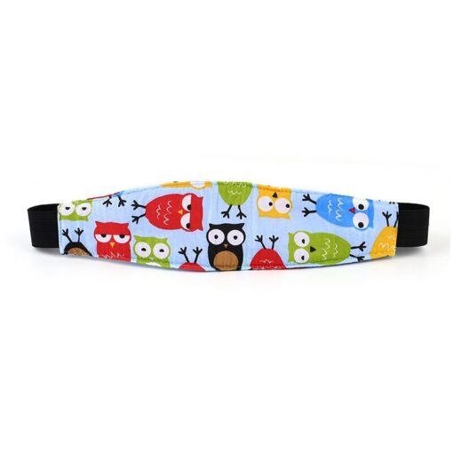 Baby Stroller sleeping Head support Child Car Safety Seat Head Fixing Auxiliary Cotton Belt for Child 4