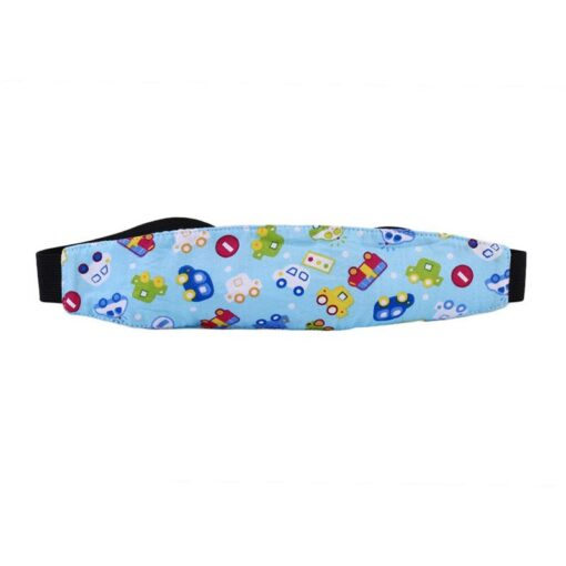 Baby Stroller sleeping Head support Child Car Safety Seat Head Fixing Auxiliary Cotton Belt for Child 5