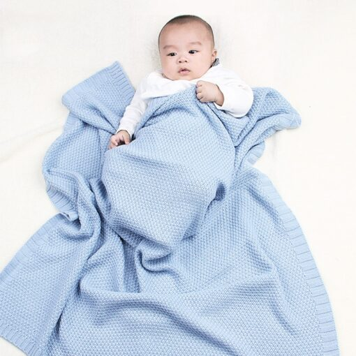 Baby Swaddle Muslin Swaddle Knitted Organic Cotton Children s Bed Blankets Colorful Soft Bedding Child Swaddle 2
