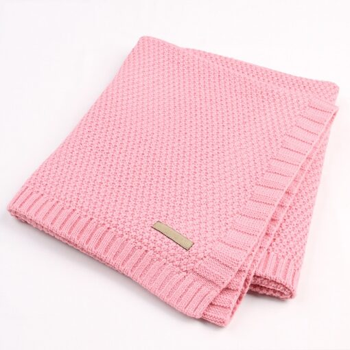 Baby Swaddle Muslin Swaddle Knitted Organic Cotton Children s Bed Blankets Colorful Soft Bedding Child Swaddle 5