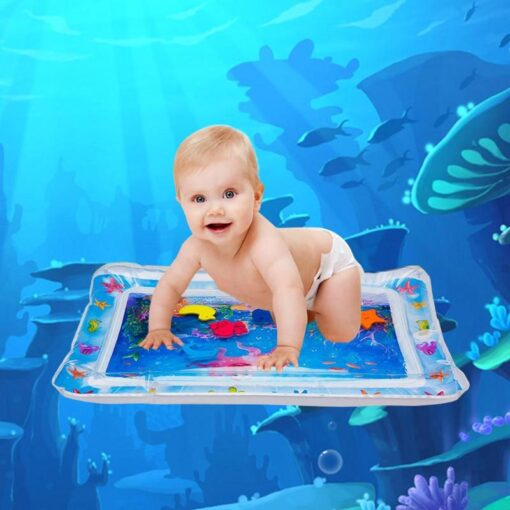 Baby Toddler Inflatable Play Mats Toys Foldable Cartoon Kids Water Play Mat Inflatable Thicken PVC Infant 1