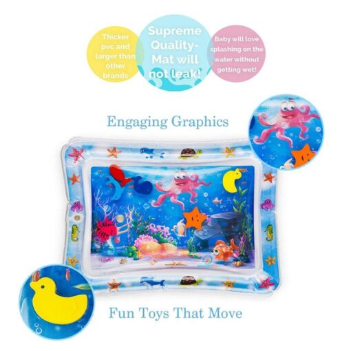 Baby Toddler Inflatable Play Mats Toys Foldable Cartoon Kids Water Play Mat Inflatable Thicken PVC Infant 4