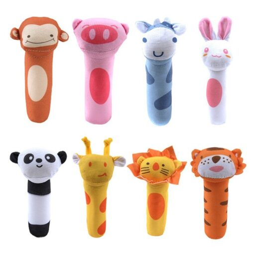 Baby Toy Infant Baby Kids Socks rattle toys Wrist Rattle And Foot Socks Hanging Rattles Plush 5