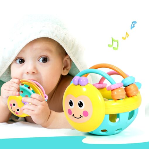 Baby Toy Rattle Ball Hand Knocking Bell Ball Toy Rattles Hand Bell Intelligence Developing Toys Infants 1