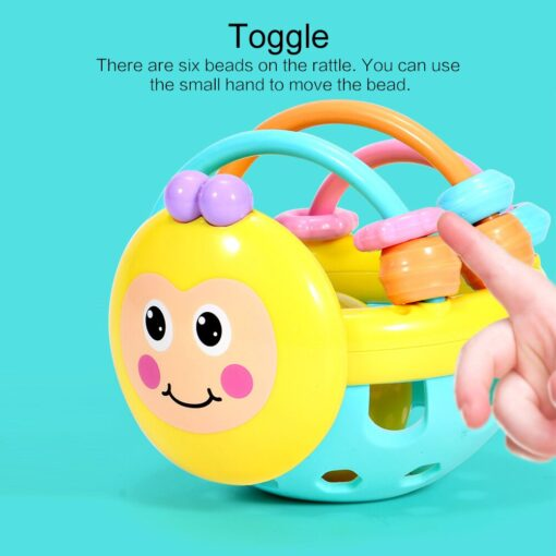Baby Toy Rattle Ball Hand Knocking Bell Ball Toy Rattles Hand Bell Intelligence Developing Toys Infants 2