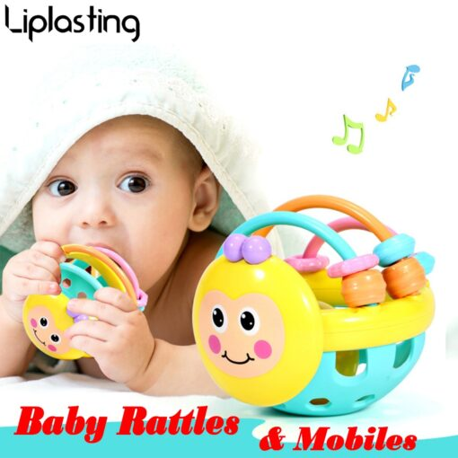 Baby Toy Rattle ball Hand Knocking Bell Ball Toy Rattles Develop Baby Intelligence Baby Activity Grasping 1