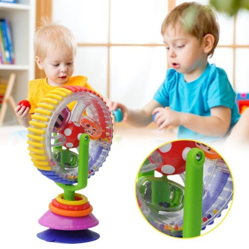 Baby Toys 0 12 Months Wonder Wheel Rattles Rotating Ferris Wheel With Suction Cup Inspire Sense 1
