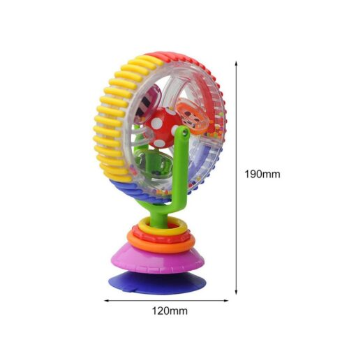Baby Toys 0 12 Months Wonder Wheel Rattles Rotating Ferris Wheel With Suction Cup Inspire Sense 3