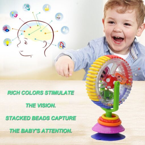 Baby Toys 0 12 Months Wonder Wheel Rattles Rotating Ferris Wheel With Suction Cup Inspire Sense