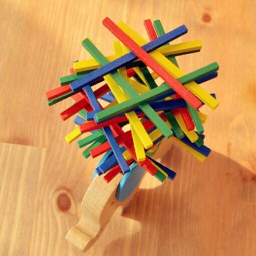 Baby Toys Educational Elephant Camel Balancing Blocks Wooden Toy Wood Balance Game Montessori Blocks Gift For 3