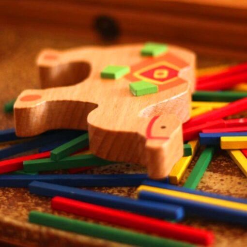 Baby Toys Educational Elephant Camel Balancing Blocks Wooden Toy Wood Balance Game Montessori Blocks Gift For 4