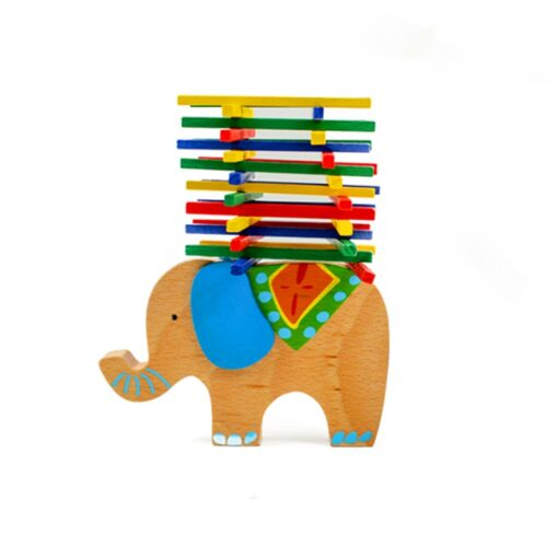 Baby Toys Educational Elephant Camel Balancing Blocks Wooden Toy Wood Balance Game Montessori Blocks Gift For