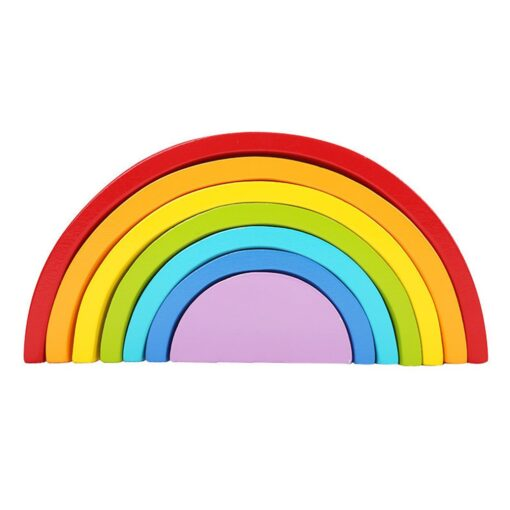 Baby Toys Fun Wooden Arched Rainbow Blocks Set Children s Educational Early Education Creative Toys For 1