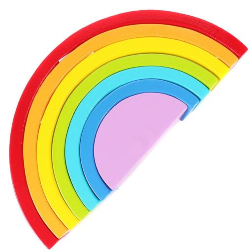 Baby Toys Fun Wooden Arched Rainbow Blocks Set Children s Educational Early Education Creative Toys For 4