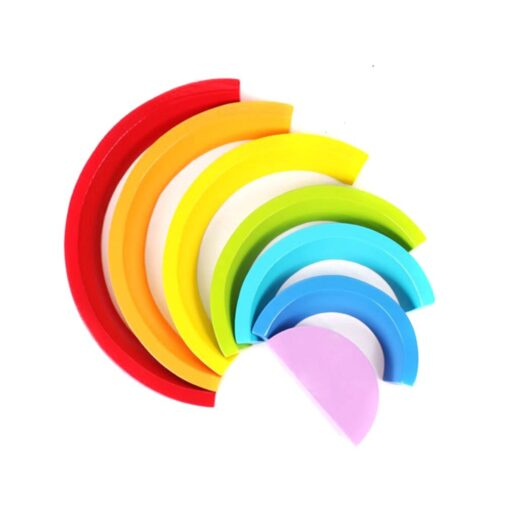 Baby Toys Fun Wooden Arched Rainbow Blocks Set Children s Educational Early Education Creative Toys For