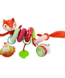 Baby Toys Rattles Soft Stroller Car Seat Activity Toy with Rattle Teether Mirror Fox Plush Spiral 2