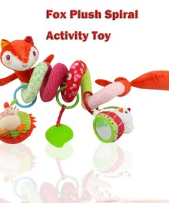 Baby Toys Rattles Soft Stroller Car Seat Activity Toy with Rattle Teether Mirror Fox Plush Spiral