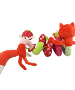 Baby Toys Rattles Soft Stroller Car Seat Activity Toy with Rattle Teether Mirror Fox Plush Spiral 4