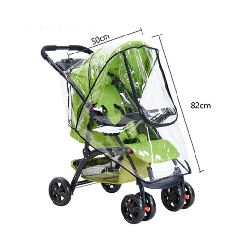 Baby Transparent Waterproof Stroller Rain Cover Wind Dust Shield Zipper Open For Baby Pushchairs Strollers Raincoat 5