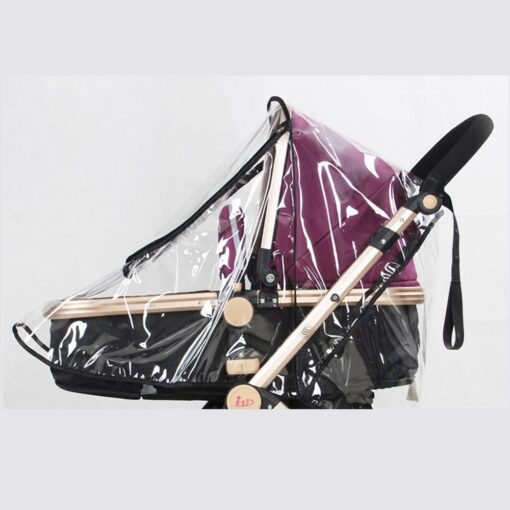 Baby Transparent Waterproof Stroller Rain Cover Wind Dust Shield Zipper Open For Baby Pushchairs Strollers Raincoat