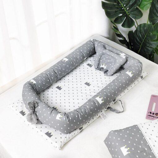 Baby Travel Bed Nest Bed Babynest Newborn Portable Crib Tissu Coton Baby Nestje Baby Lounge Bassinet 1