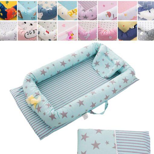 Baby Travel Bed Nest Bed Babynest Newborn Portable Crib Tissu Coton Baby Nestje Baby Lounge Bassinet 3