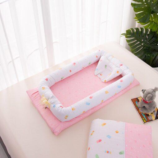 Baby Travel Bed Nest Bed Babynest Newborn Portable Crib Tissu Coton Baby Nestje Baby Lounge Bassinet 4